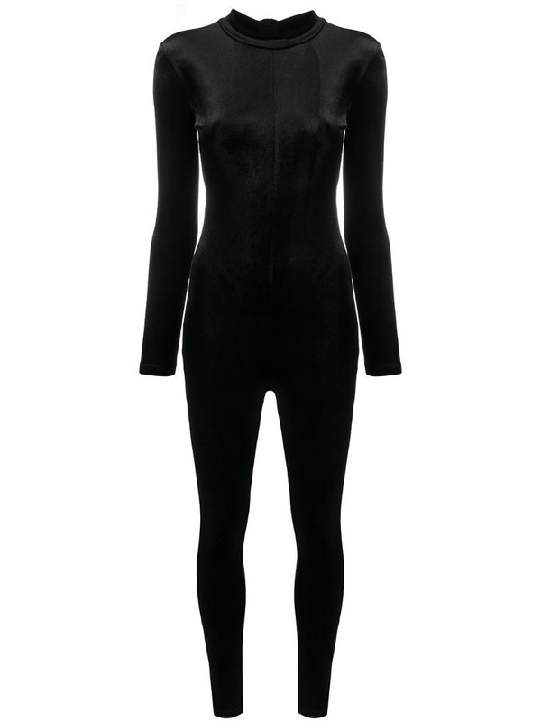 Alchemy mock neck jumpsuit in black