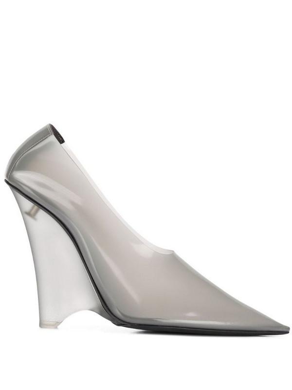 Yeezy wedge heel pumps in grey