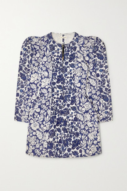 Ulla Johnson - Wren Floral-print Denim Mini Dress - Blue