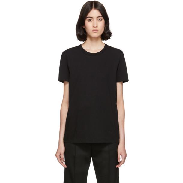 MM6 Maison Margiela Black Embroidered Logo T-Shirt