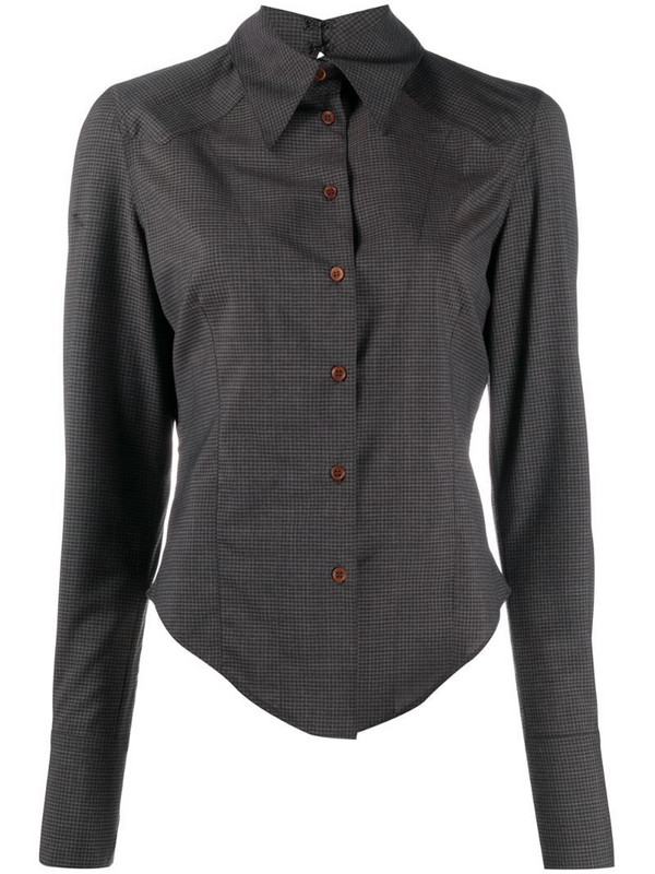 Charlotte Knowles check button-up shirt in grey