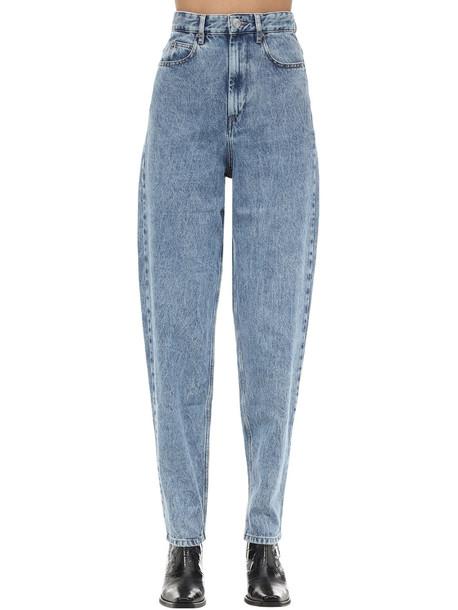 ISABEL MARANT ÉTOILE Corsy J Boyfriend Cotton Denim Jeans in blue