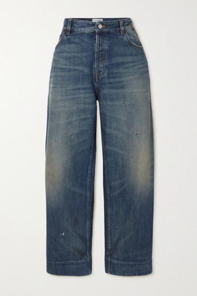Balenciaga - Cropped High-rise Jeans - Blue