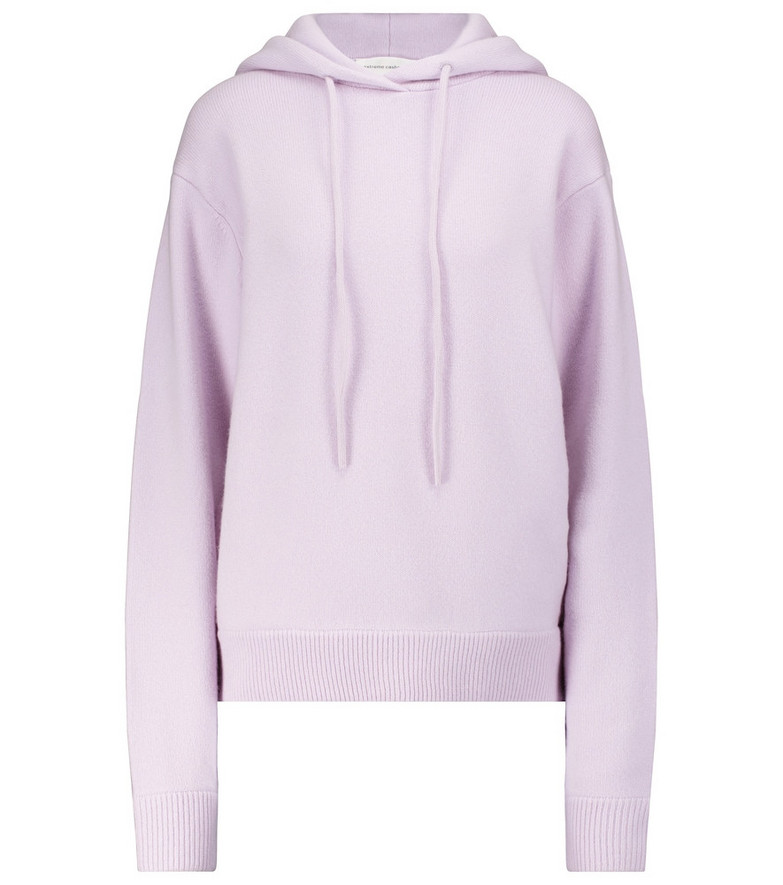 Extreme Cashmere N° 90 Be Cool cashmere-blend hoodie in purple