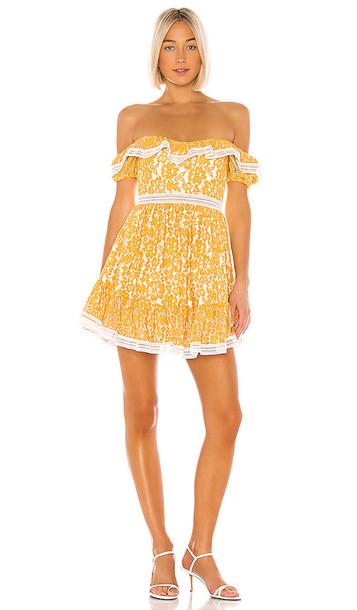 X by NBD Bazzi Mini Dress in Yellow