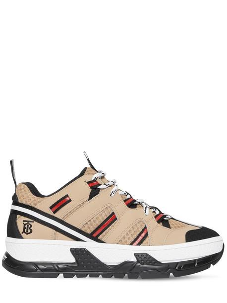 BURBERRY 40mm Rs5 Leather & Mesh Sneakers in beige