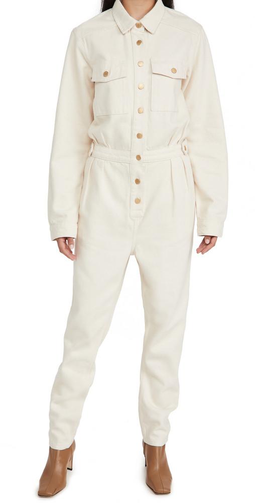 Triarchy Denim Jumpsuit in white