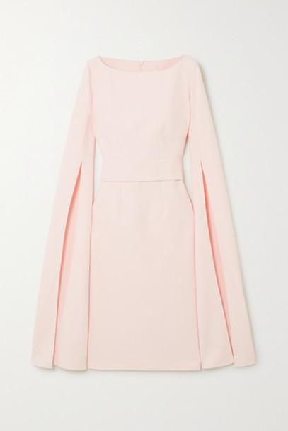 Safiyaa - Belted Crepe Dress - Pastel pink