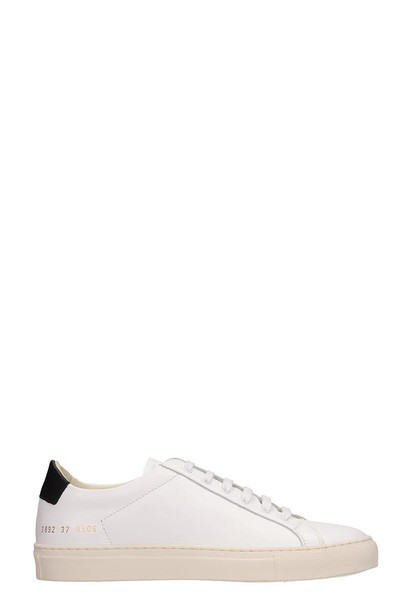 Common Projects White Leather Retro Low Sneakers