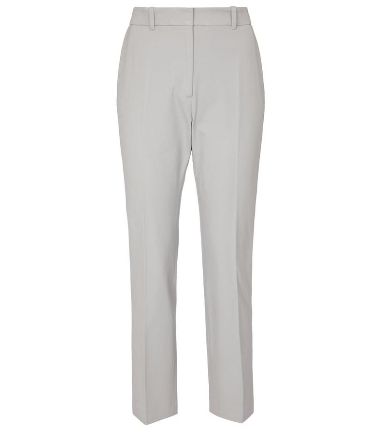 Joseph Coleman high-rise slim gabardine pants in grey