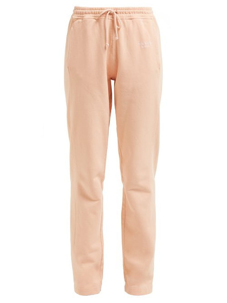 Acne Studios - Logo Embroidered Cotton Track Pants - Womens - Pink