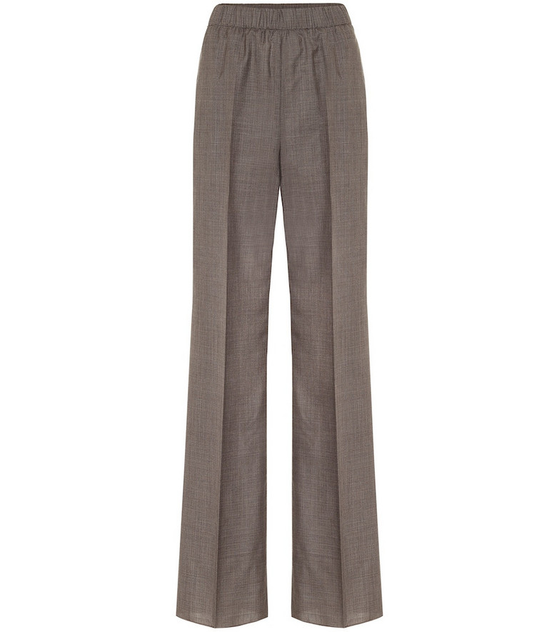 Agnona High-rise wide-leg pants in grey