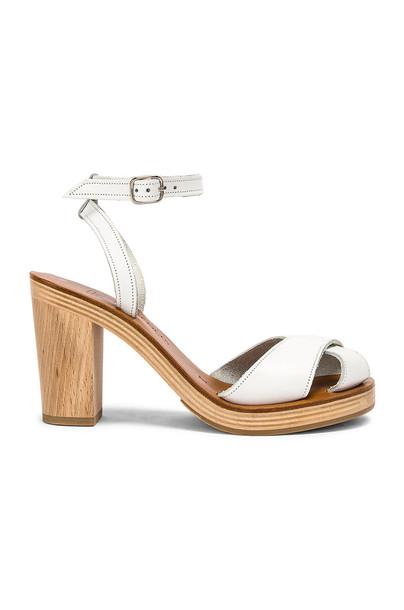 K Jacques Figuier Sandal in white