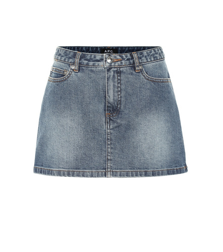 A.P.C. Denim miniskirt in blue