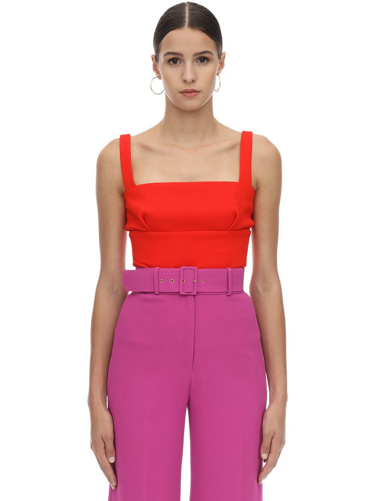 EMILIA WICKSTEAD Double Crepe Top in red
