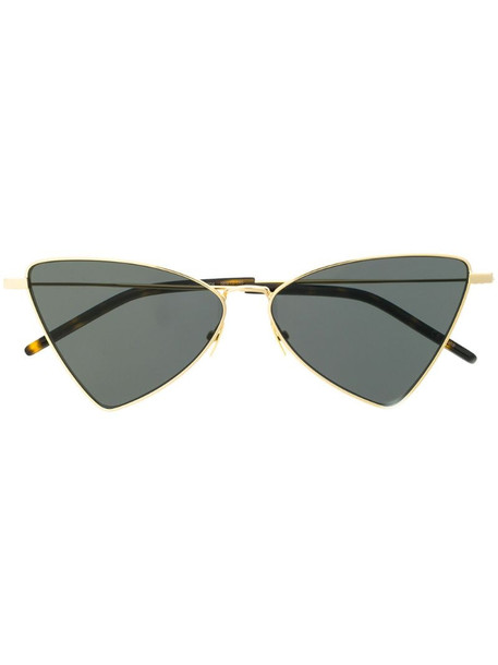 Saint Laurent Eyewear triangular frame sunglasses in gold