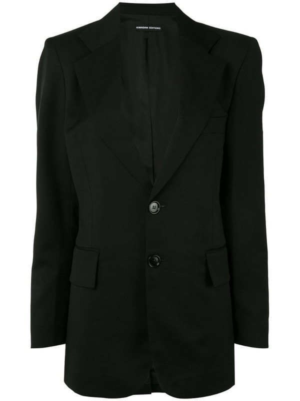 Kwaidan Editions notched-lapel single breasted blazer in black
