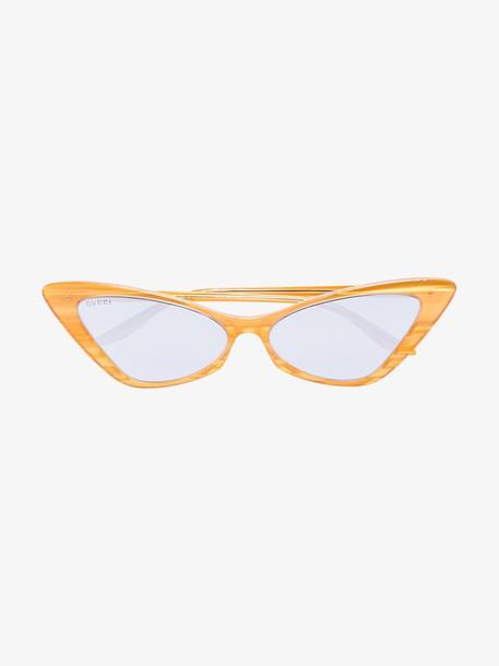 Gucci Eyewear yellow cat eye sunglasses