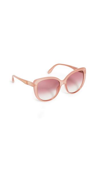 Gucci Wirecore Feminine Cat Eye Sunglasses in pink / red