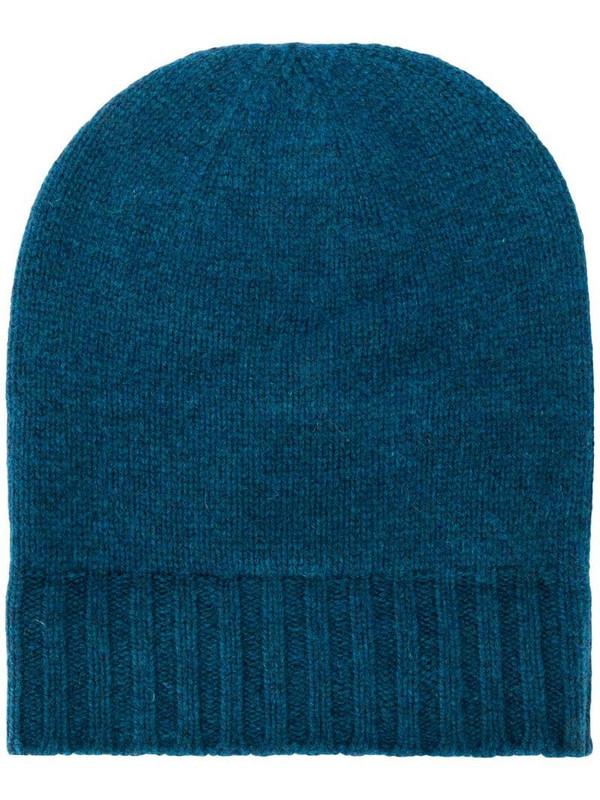 Pringle of Scotland Scottish beanie hat in blue