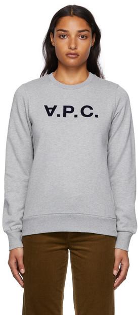 A.P.C. A.P.C. Grey Viva Logo Sweatshirt