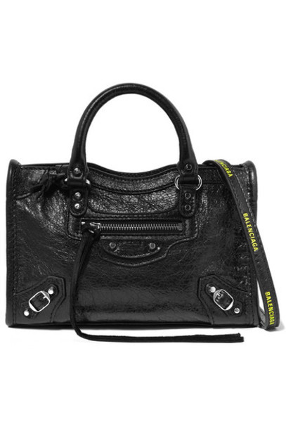 Balenciaga - Classic City Nano Textured-leather Shoulder Bag - Black