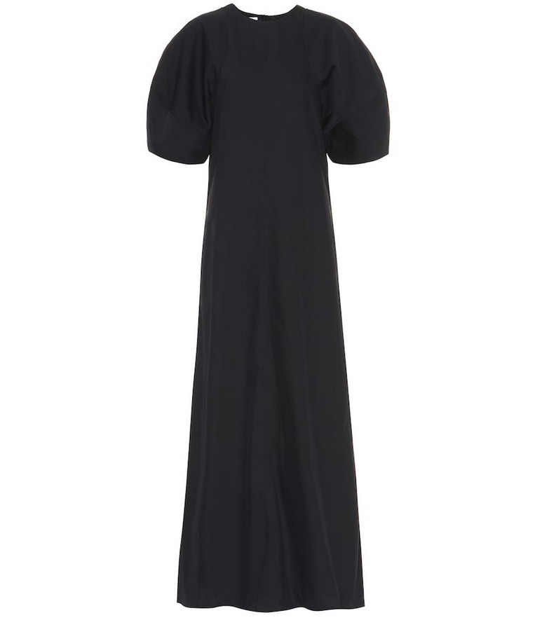 Co Cotton-blend twill maxi dress in black