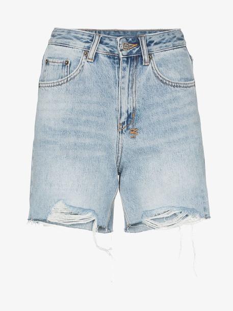 Ksubi distressed denim shorts