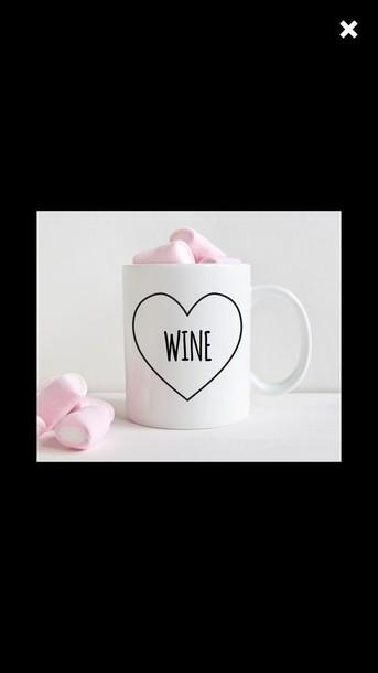 home accessory cute cups wine.