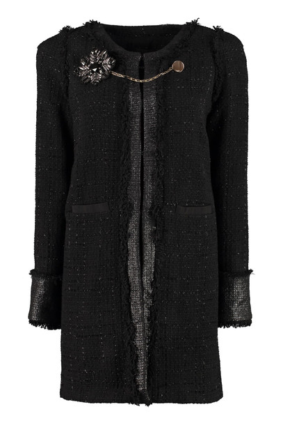 Pinko Marginare Tweed Coat in black