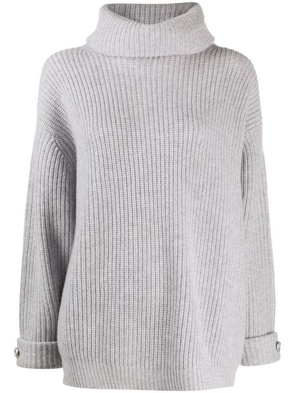 Max & Moi ribbed roll-neck sweater in grey