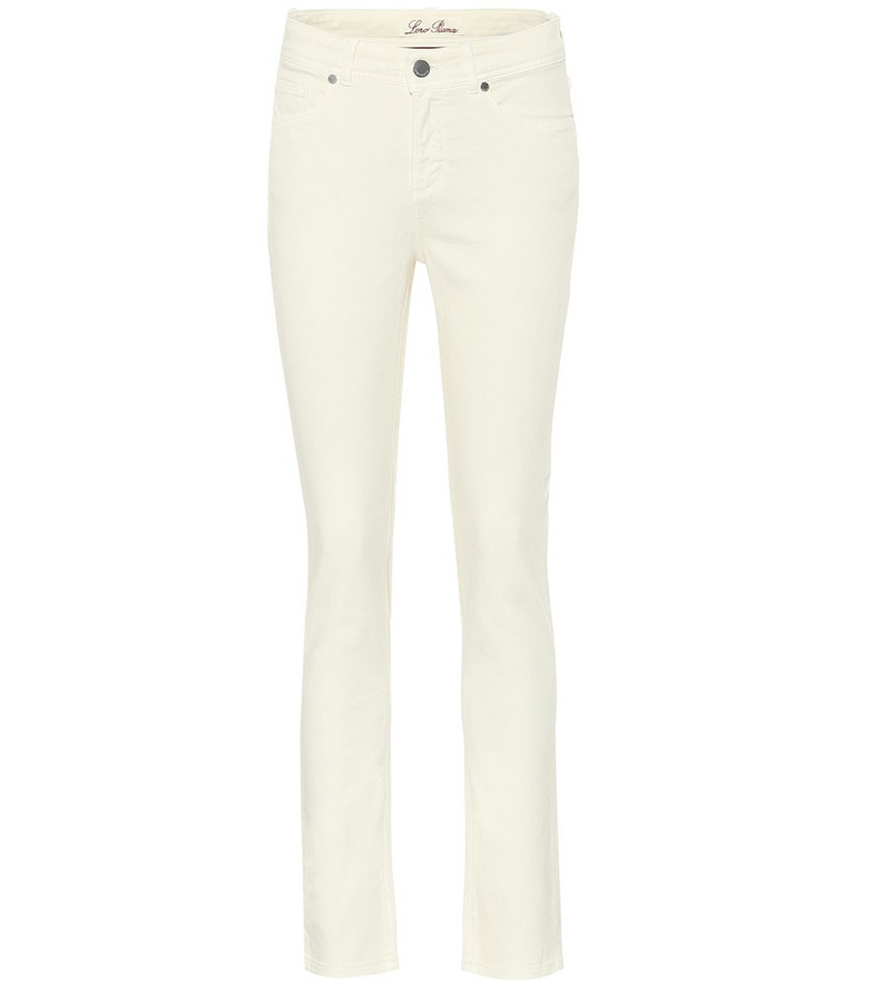 Loro Piana Mathias high-rise skinny jeans in white