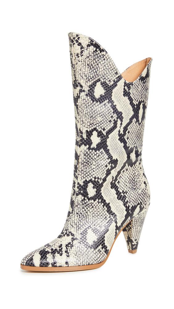 JAGGAR Pinnacle Snake Boots in grey
