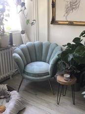 home accessory,chair,velvet,velvet chair,velour,couch,sofa,armchair,mermaid,shell,blue,ocean