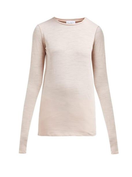 Raey - Long Sleeved Slubby Cotton Jersey T Shirt - Womens - Pink