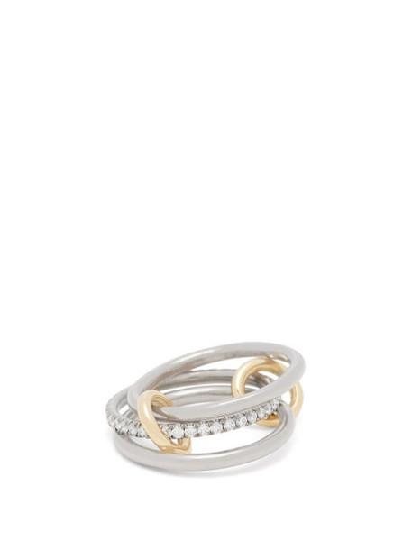 Spinelli Kilcollin - Sonny Diamond & 18kt Black Gold Ring - Womens - Black Gold