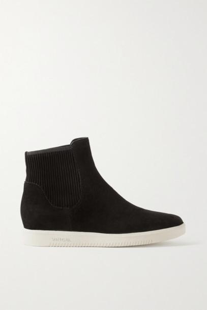 Vince - Ilona Suede High-top Slip-on Sneakers - Black