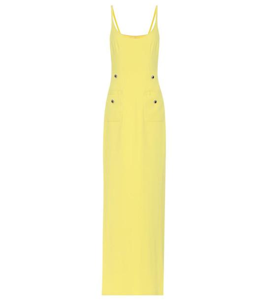 Alessandra Rich Crêpe dress in yellow