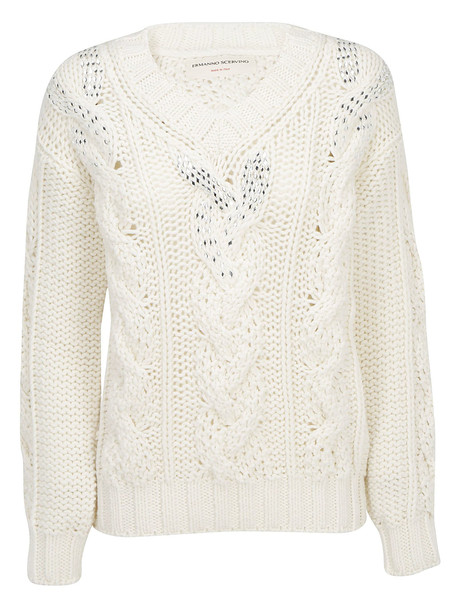 Ermanno Scervino Sweater in ecru