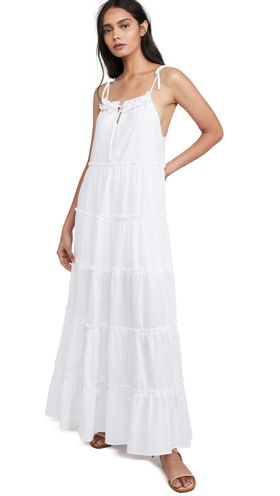 Charlie Holiday Senorita Maxi Dress in white