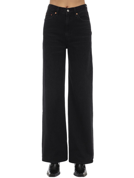 LEVI'S RED TAB Rib Cage High Rise Wide Leg Jeans in black