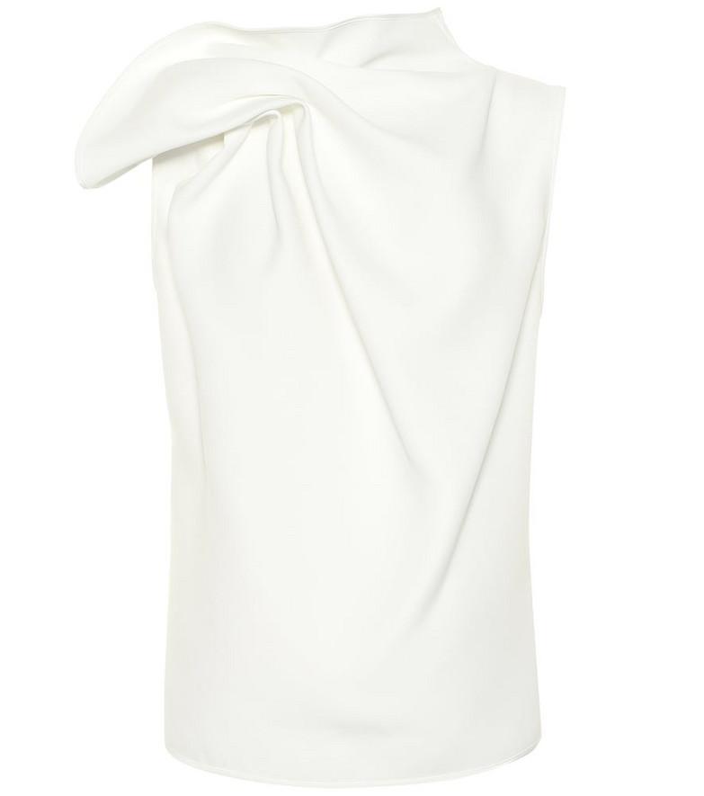 Maticevski Deadly crêpe top in white
