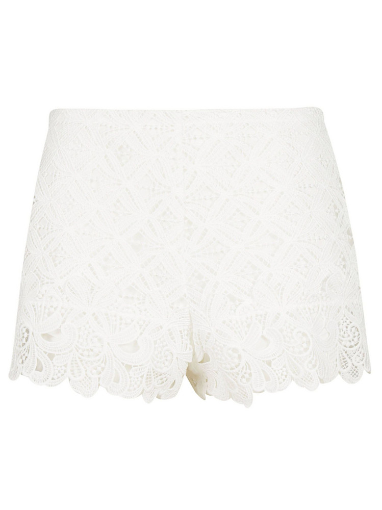 Ermanno Scervino Cut Out Shorts in white