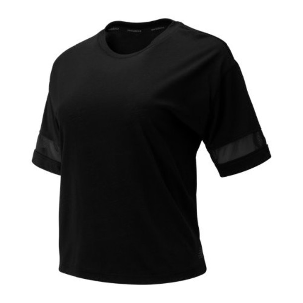 New Balance 93152 Women's Relentless Boxy Tee - Black (WT93152BK)