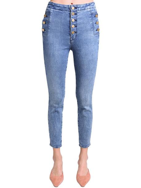 J BRAND Natasha High Rise Stretch Skinny Jeans in blue