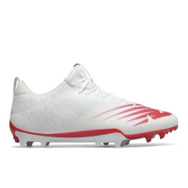 New Balance BurnX2 Low Men's Lacrosse Shoes - White/Red (BURNXLR2)