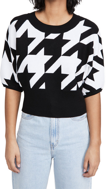 525 Houndstooth Pullover in black / multi