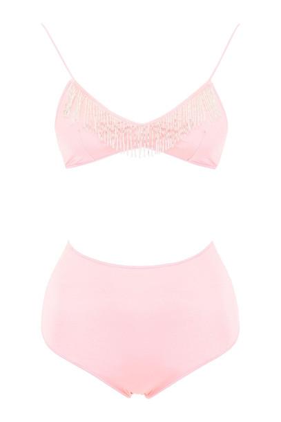 Oseree Bikini With Beads in pink