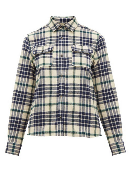 A.P.C. A.p.c. - Checked Cotton-blend Flannel Shirt - Womens - Black Multi