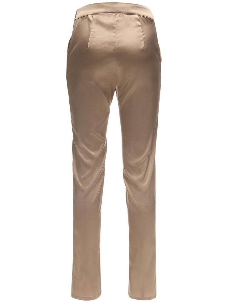AYA MUSE Vivia High Waist Silk Satin Pants